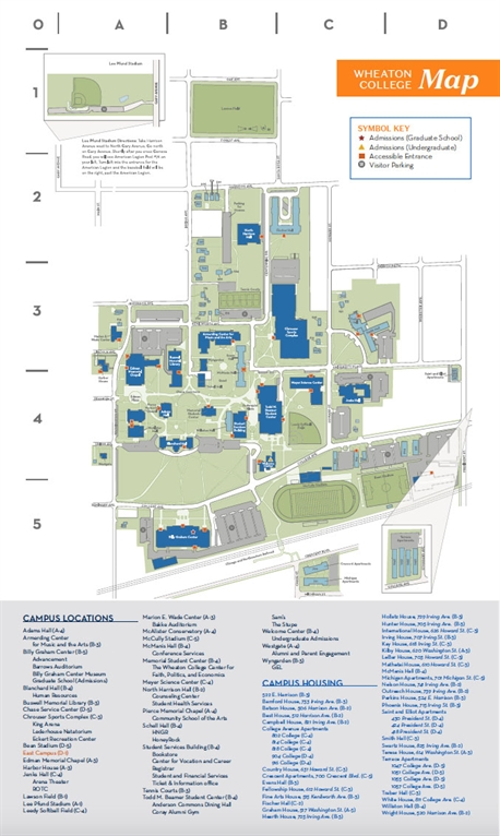 Wheaton College Alumni   Campus Maps